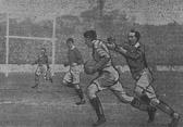 Stanley Moorhouse breaks through on the left