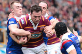 Lunt takes on the Saints defence Giants v Saints (h) cup-tie 2014