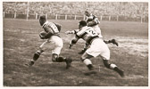 Action - 1938 Hudds v Hull Yorks Cup Final