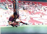 Ali Davies try 1997 Prem Final Old Trafford
