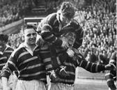 Hudd v Saints 1953 CCup Final - Large, Ramsden, Valentine