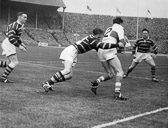 Hudd v Saints Cup Final 1953- Large, Devery, Cooper