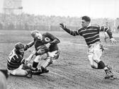 Hudd v Swinton 1950s - Nicholson (r), Cooper (l)